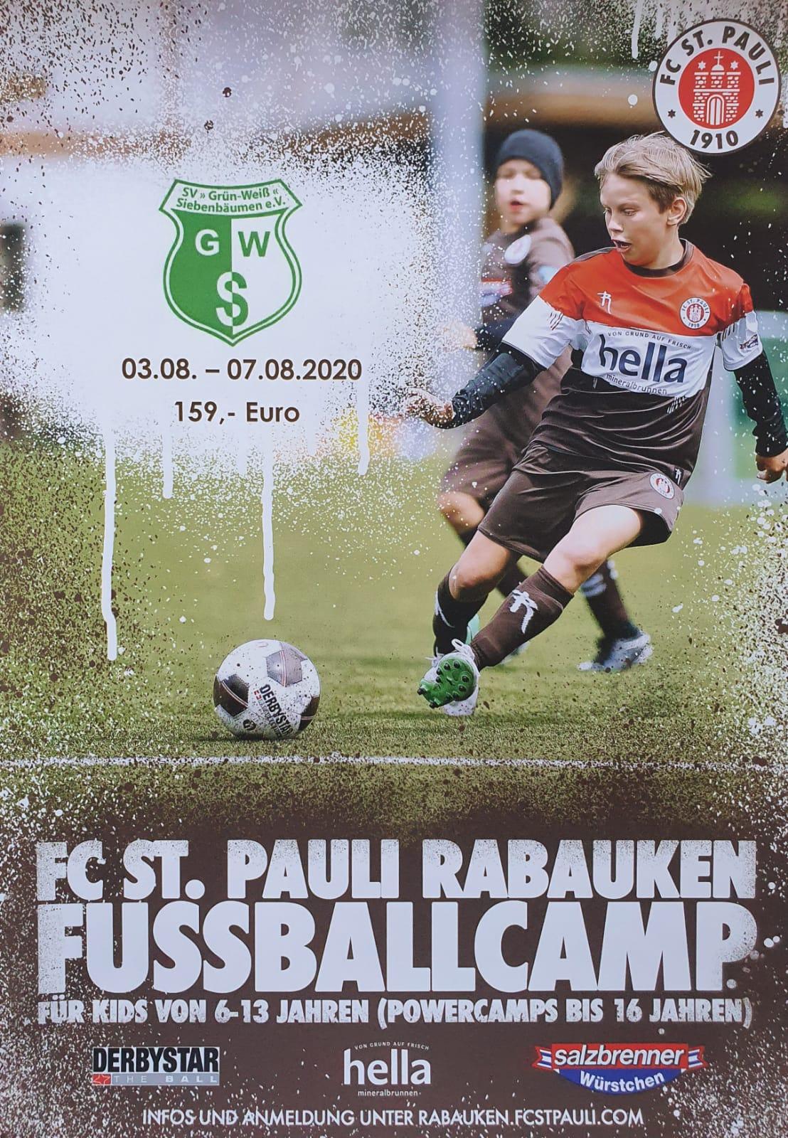 FC ST. Pauli Rabauken Fussballcamp in Siebenbäumen⚽️