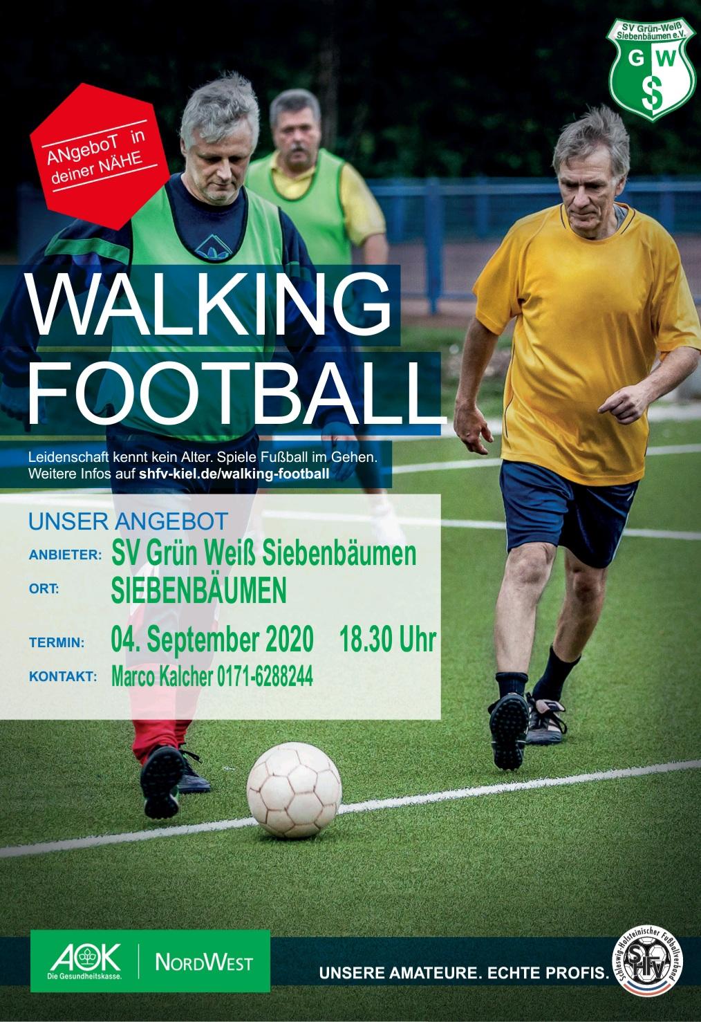 Walking Football (geh Fussball) beginnt in Siebenbäumen